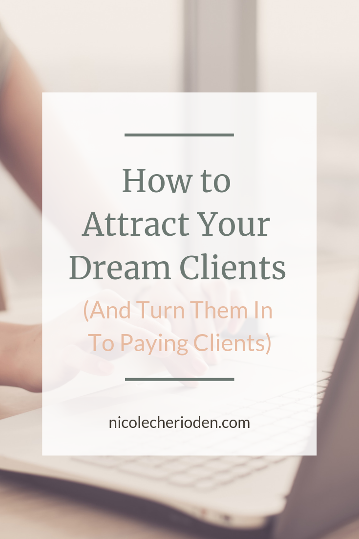 dream clients to paying clients