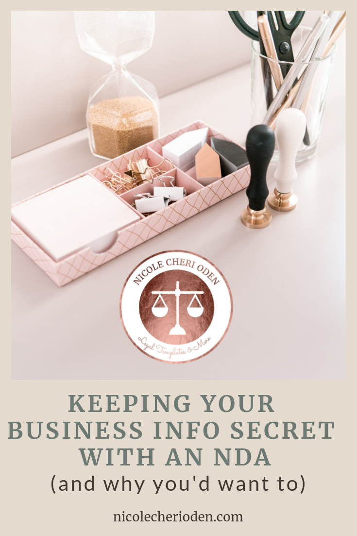 keeping your business info secret with an NDA