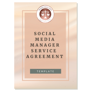 social media manager service agreement