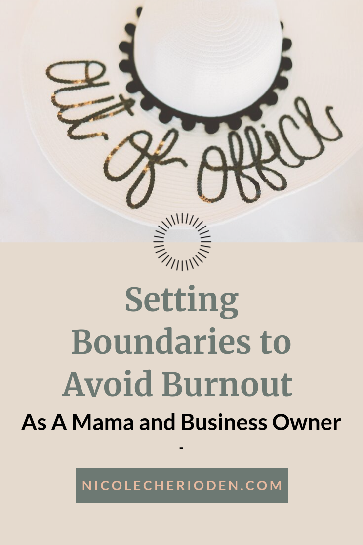 setting boundaries to avoid burnout